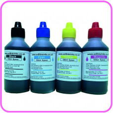 Edible Ink for Epson Printers - CMYK, 4 x 100ml