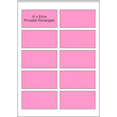 Printable Edible  Icing Sheet - 10 Sheets A4, 10 x 90mm x 45mm Rectangles
