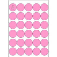 Printable Edible  Icing Sheet - 10 Sheets A4, 30 x 38mm Circles