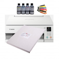 Edible A4 Printer Bundle, Canon TS6351, Refillable Cartridges, Edible Ink & 24 Icing Sheets.