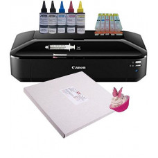 Edible A3 Printer Bundle, Canon IX6850,  with Edible Ink Accessory Pack & Icing Sheets.
