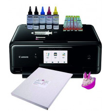 Edible A4 Printer Bundle, Canon TS5050/TS5051, with Edible Ink Accessory Pack & Icing Sheets.