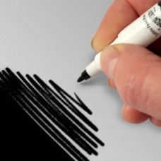 Food Art Pen - Black, with a fine and a broad nib. - 2 pens in 1.