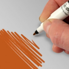 Food Art Pen - Orange, with a fine and a broad nib. - 2 pens in 1.
