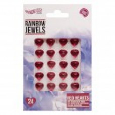 Rainbow Jewels - Red Hearts, 24 pcs Pack.