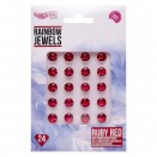 Rainbow Jewels - Red Ruby's, 24 pcs Pack.