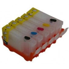Refillable Edible Ink Cartridge Set for Canon PGI-5 - CLI-8 Cartridges.