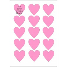 10 x A4 Printable Edible Icing Sheets with 15 Pre-cut 50mm Hearts per Sheet.