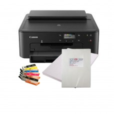 Edible A4 Printer Bundle, TS705 with Pre-Filled Edible Ink Cartridges, Icing Sheets & Wafer Paper.
