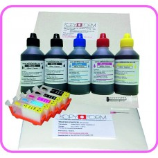 Edible Printer Refillable Cartridge Accessory Kit for Canon PGI-525 with Icing & Wafer Papers.