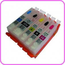 Refillable Edible Ink Cartridge Set for Canon PGI-550 - CLI-551 Cartridges.