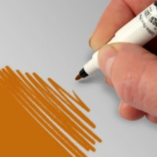 Food Art Pen - Bright Gold, with a fine and a broad nib. - 2 pens in 1