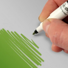Food Art Pen - Leaf Green, with a fine and a broad nib. - 2 pens in 1.